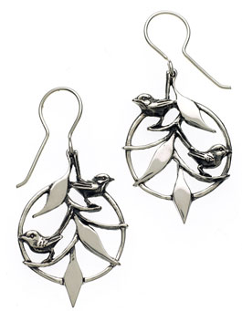 Superb Fairy Wren ear-rings